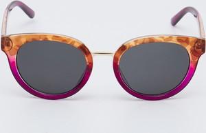Pomarańczowe okulary damskie Sinsay