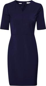 Niebieska sukienka InWear z krótkim rękawem