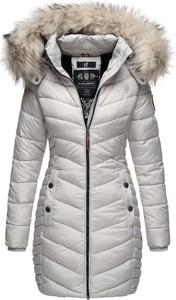 Srebrny płaszcz Navahoo z plaru w stylu casual