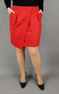 Czerwona spódnica Zaps Collection z wełny