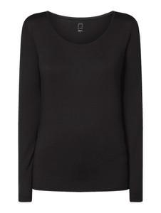 Czarna bluzka Jake*s w stylu casual z długim rękawem