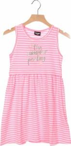 Różowa sukienka dziewczęca Remixshop w paseczki