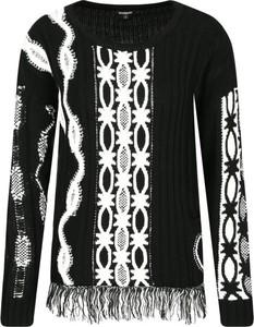 Czarny sweter Desigual z wełny