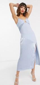 Niebieska sukienka Vestire na ramiączkach