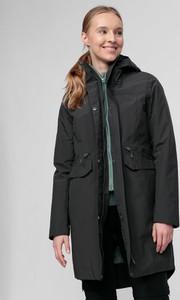 Czarna kurtka 4F z tkaniny długa