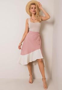 Różowa spódnica Sheandher.pl z bawełny midi