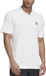 Koszulka polo Adidas z bawełny z krótkim rękawem w stylu casual