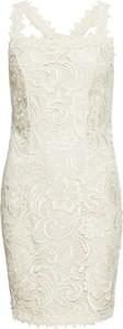 Sukienka bonprix BODYFLIRT boutique z dekoltem w kształcie litery v dopasowana