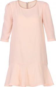 Różowa sukienka Yuliya Babich z długim rękawem mini