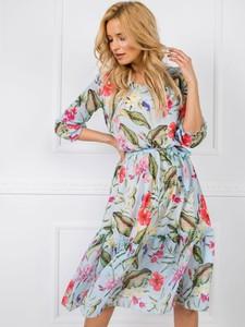 Sukienka Factory Price asymetryczna maxi z długim rękawem