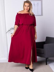 Sukienka KARKO z długim rękawem maxi