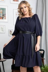 Sukienka KARKO z długim rękawem z tkaniny mini