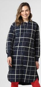 Granatowy płaszcz Moss Copenhagen w stylu casual