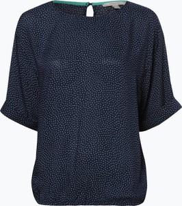 Niebieska bluzka Esprit w stylu casual z okrągłym dekoltem z krótkim rękawem