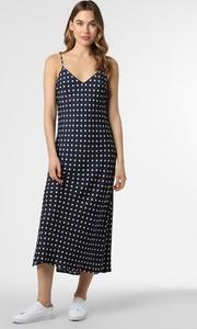 Granatowa sukienka Essentiel Antwerp w stylu casual maxi z dekoltem w kształcie litery v