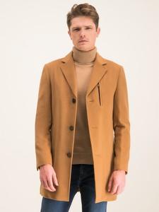 Brązowy płaszcz męski Digel