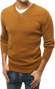 Brązowy sweter Dstreet w stylu casual z dzianiny