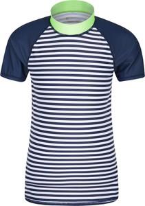 Granatowa koszulka dziecięca Mountain Warehouse z tkaniny