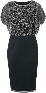 Sukienka Heine midi z krótkim rękawem z okrągłym dekoltem