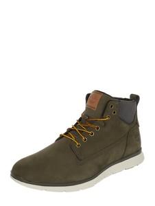 Zielone buty zimowe Timberland ze skóry w stylu casual sznurowane