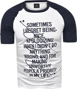 T-shirt Risardi w młodzieżowym stylu z krótkim rękawem