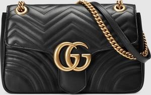 Czarna torebka Gucci na ramię