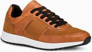 Ombre Buty męskie sneakersy T361 - brązowe