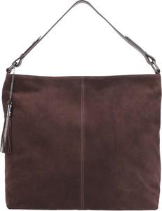 Czerwona torebka Wojas z frędzlami na ramię w stylu casual