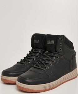 Buty zimowe Urban Classics ze skóry ekologicznej sznurowane