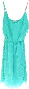 Zielona sukienka Relish na ramiączkach z dekoltem w kształcie litery v mini