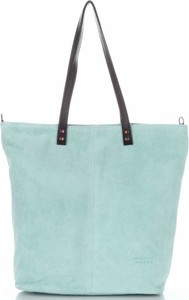 Niebieska torebka Vera Pelle w stylu casual ze skóry