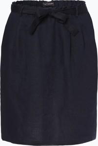 Niebieska spódnica Franco Callegari midi z lnu