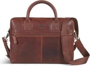 Brązowa torba Howard London ze skóry