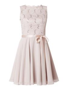 Sukienka Swing mini z okrągłym dekoltem bez rękawów