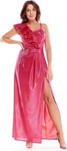 Sukienka Ptakmoda.com z dekoltem w kształcie litery v