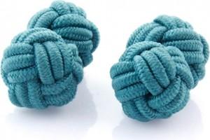 Em Men`s Accessories Spinki niebieskie supełki EM 187