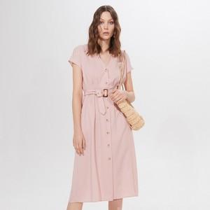 Różowa sukienka Mohito midi