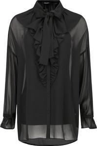 Czarna bluzka Mytwin Twinset z długim rękawem