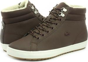 Brązowe buty zimowe Lacoste