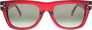 Czerwone okulary damskie Céline