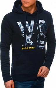 Granatowa bluza Edoti z bawełny