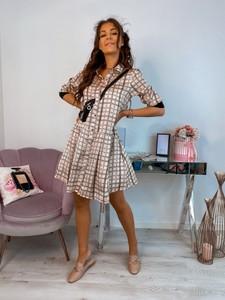 Sukienka Hollywood Dream mini rozkloszowana z długim rękawem