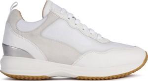 Buty sportowe Geox sznurowane z zamszu