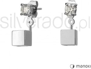 Silverado oryginalne kolczyki na sztyft z delikatną cyrkonią 77-ka073