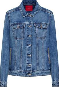 Niebieska kurtka S.Oliver Red Label krótka w stylu casual