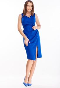 Sukienka Ptakmoda.com midi dla puszystych bez rękawów