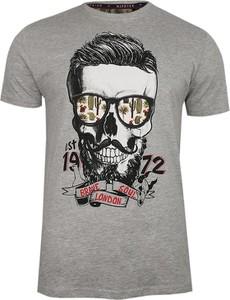 T-shirt Brave Soul z krótkim rękawem z nadrukiem z bawełny