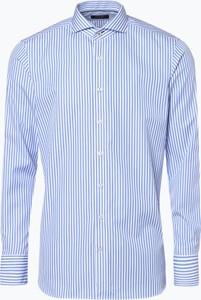 Niebieska koszula OLYMP SIGNATURE w stylu casual z klasycznym kołnierzykiem z długim rękawem