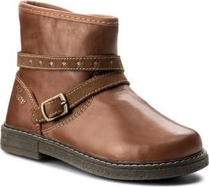 Brązowe buty dziecięce zimowe geox dla dziewczynek