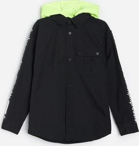 Czarna koszula dziecięca Reserved z bawełny